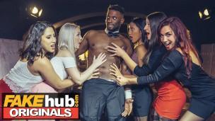 LADIES CLUB Adara Love and Lovita Fate get facial from stripper threesome